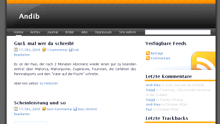 Homepage Preview 10/2006